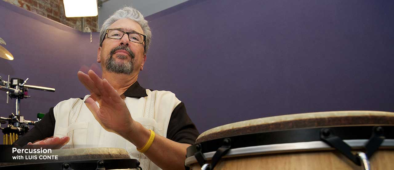percussion lessons with luis conte