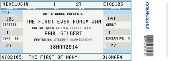 paul gilbert forum jam