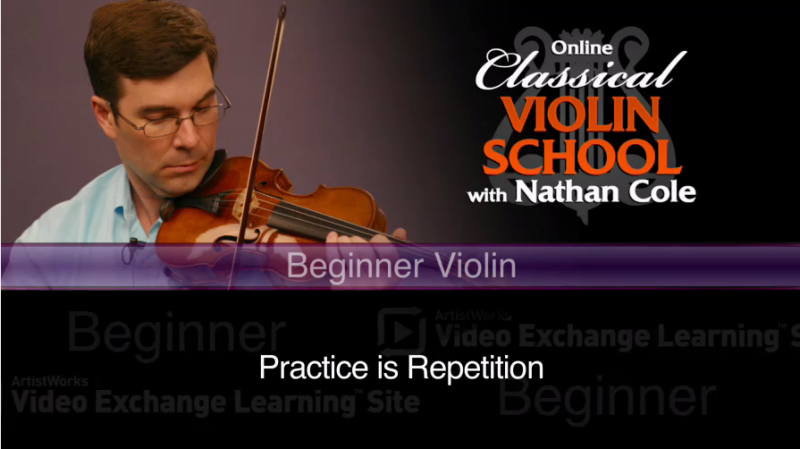 beginner violin lessons - practice is repetition