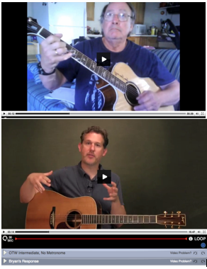 video exchange with bryan sutton on flat picking