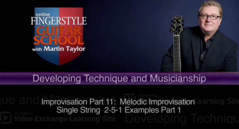 online guitar lesson from martin taylor on improvising