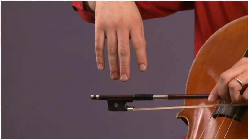 how to hold cello bow