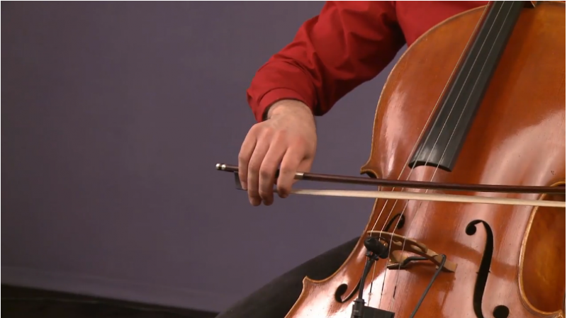 how to hold a cello bow - sample lesson