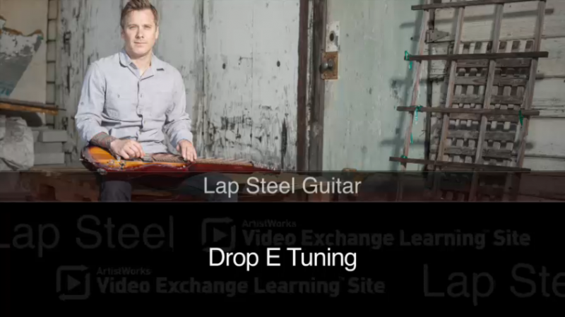 lap steel lesson - drop e tuning