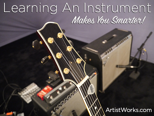 learning an instrument makes you smarter