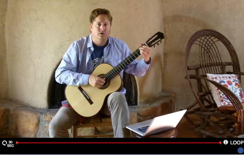 learning classical guitar - Jason Vieaux response