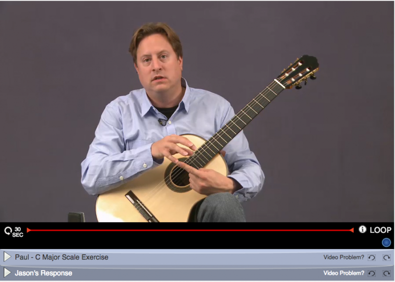 learning classical guitar online with jason vieaux