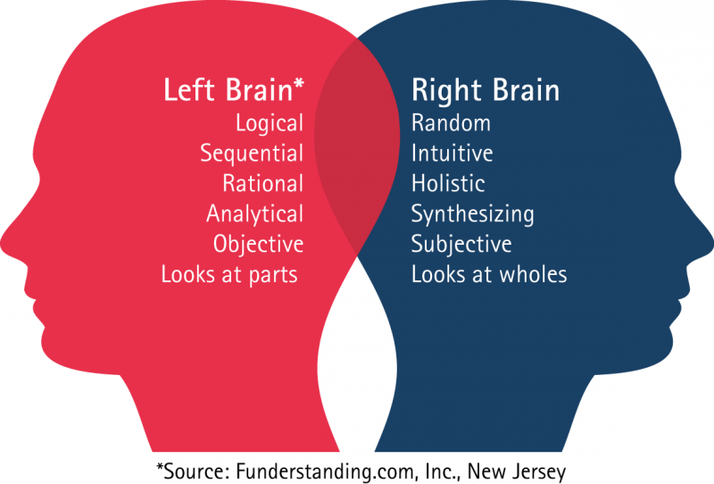 both sides of the brain