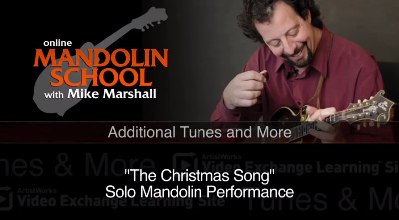 mandolin lessson - the christmas song