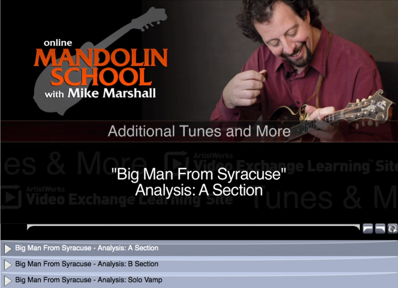 mandolin lesson - big man from syracuse