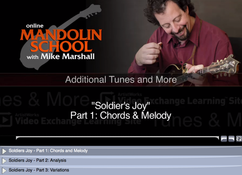 mandolin lesson - soldiers johy