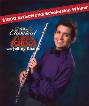 online learning profile on flute student