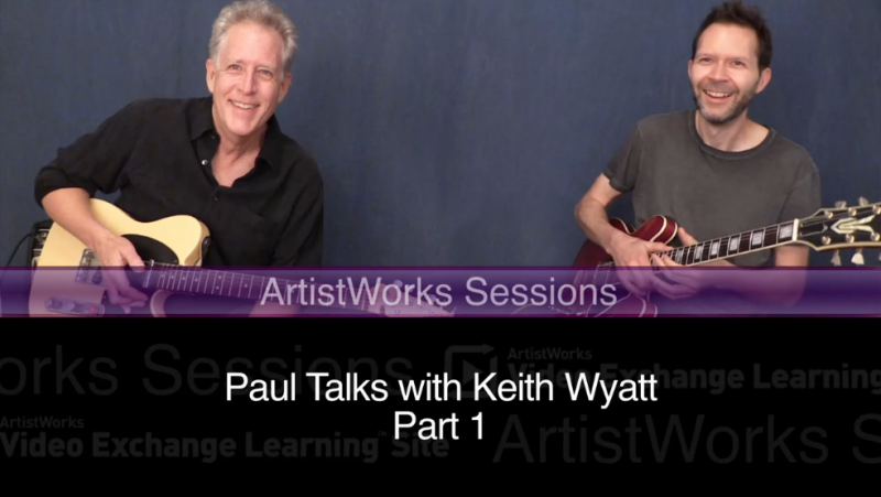 Paul Gilbert and Keith Wyatt jam and talk guitar