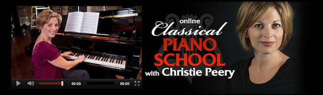 piano lessons online with christie peery