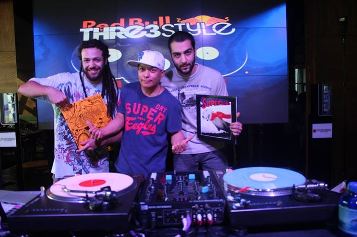 qbert in baku with dj grostask at redbull thre3style