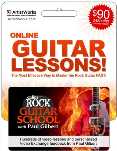 rock guitar lessons gift card