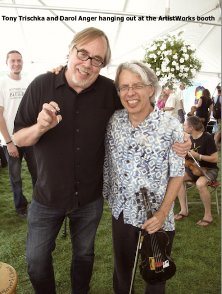 Tony Trischka and Darol Anger at the ArtistWorks booth