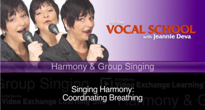 vocal lessons singing harmony in a group