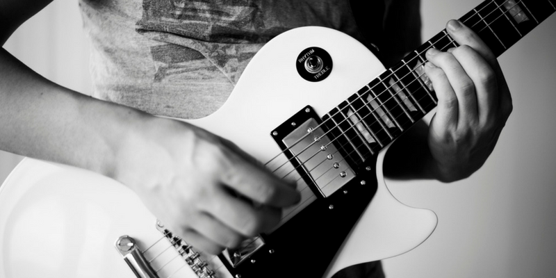 black and white rock guitar guitar styles to try artist works